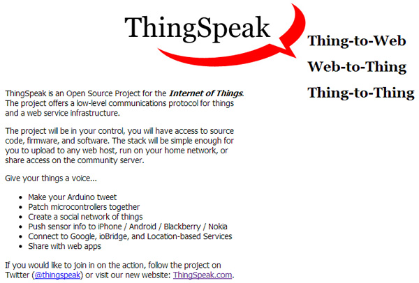 First ThingSpeak Website